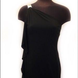 White House Black Market One Shoulder Dress  (4)